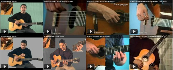 learn classical guitar videos