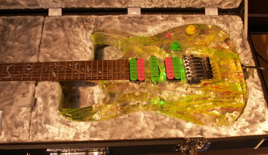 transparent guitar