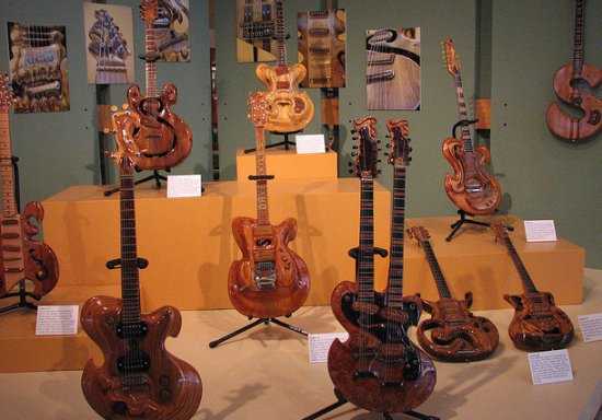 wooden guitars