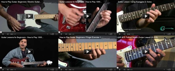 learn electric guitar videos