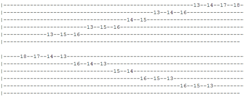 A# Bb Harmonic Minor Scale 2 tab