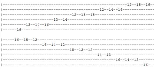 G# Ab Harmonic Minor 2 tab