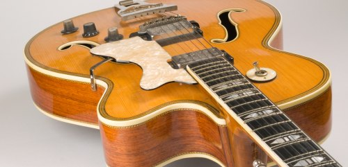 Old electric archtop jazz guitar
